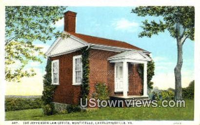The Jefferson Law Office - Charlottesville, Virginia VA Postcard