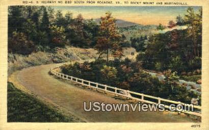 Highway No 220 - Roanoke, Virginia VA Postcard