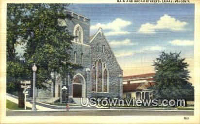 Main And Broad Streets  - Luray, Virginia VA Postcard