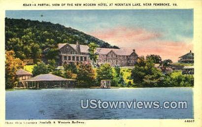 Modern Hotel At Mountain Lake  - Pembroke, Virginia VA Postcard