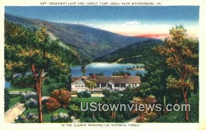 Shenandoah Lake Forest Camp Lodge - Waynesboro, Virginia VA Postcard