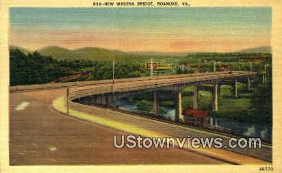 Wasena Bridge  - Roanoke, Virginia VA Postcard