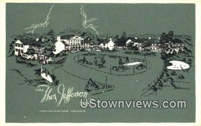 Thomas Jefferson Inn - Charlottesville, Virginia VA Postcard