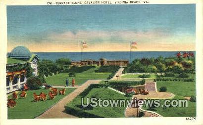 Terrace Slope Cavalier Hotel  - Virginia Beach Postcards, Virginia VA Postcard