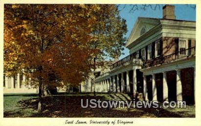 University Of Virginia East Lawn  - Charlottesville Postcard