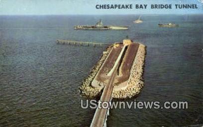 Chesapeake Bay Bridge Tunnel  - Norfolk, Virginia VA Postcard