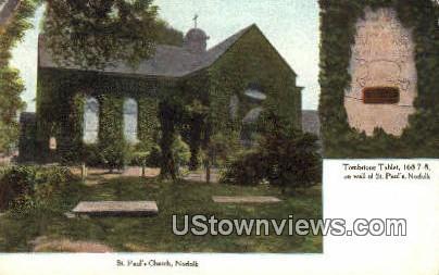 St Pauls Church  - Norfolk, Virginia VA Postcard