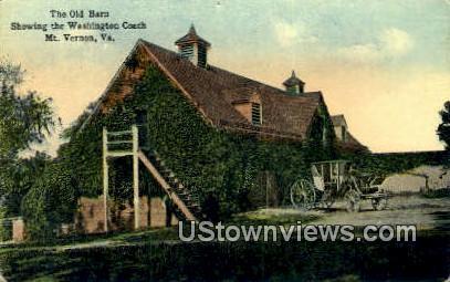 The Old Barn - Mount Vernon, Virginia VA Postcard