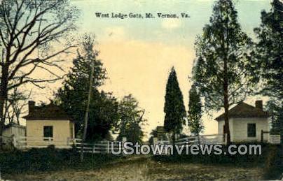 West Lodge  - Mount Vernon, Virginia VA Postcard