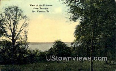 Potomac From The Veranda  - Mount Vernon, Virginia VA Postcard