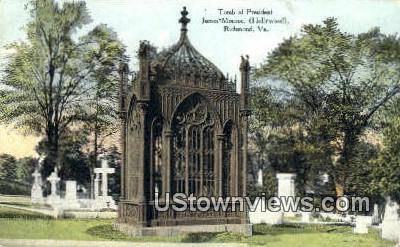 Tomb Of President James Monroe  - Richmond, Virginia VA Postcard