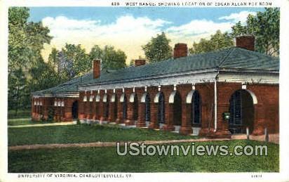 West Range University Of Virginia  - Charlottesville Postcard