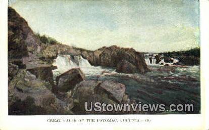 Great Falls Of The Potomac - Misc, Virginia VA Postcard