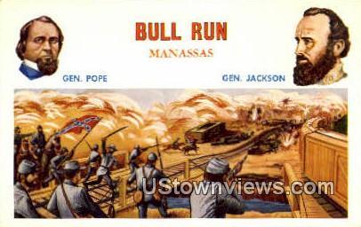 Famous Battles Of The Civil War  - Bull Run, Virginia VA Postcard