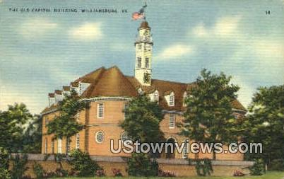 The Old Capitol Building  - Williamsburg, Virginia VA Postcard