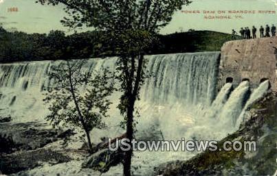 Power Dam On Roanoke River  - Virginia VA Postcard