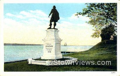 John Smith Statue  - Jamestown Island, Virginia VA Postcard