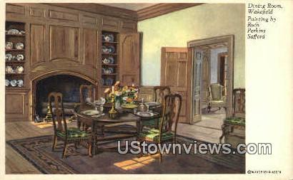 Dining Room Wakefield  - Virginia VA Postcard