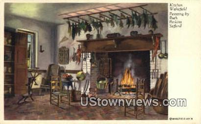 Kitchen  - Wakefield, Virginia VA Postcard