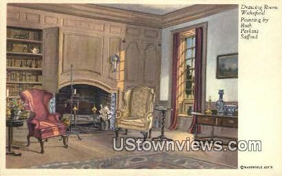 Drawing Room  - Wakefield, Virginia VA Postcard