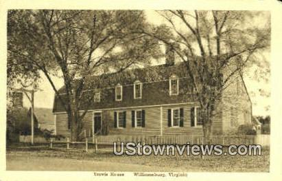 Travis House  - Williamsburg, Virginia VA Postcard
