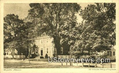 Wythe House  - Williamsburg, Virginia VA Postcard