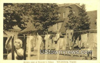 Kitchen Yard Of Governors Palace  - Williamsburg, Virginia VA Postcard