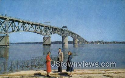 George P Coleman Memorial Bridge  - Yorktown, Virginia VA Postcard