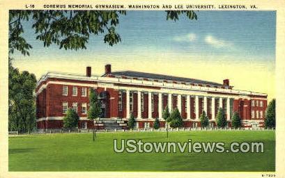 Doremus Memorial Gym - Lexington, Virginia VA Postcard