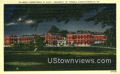 Night University Of Virignia  - Charlottesville, Virginia VA Postcard