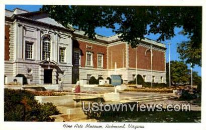Fine Arts Museum  - Richmond, Virginia VA Postcard