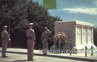 Tomb Of Washington  - Arlington, Virginia VA Postcard