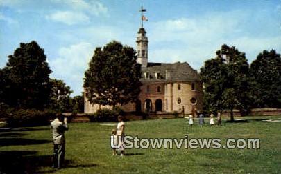 Colonial Capitol Building  - Williamsburg, Virginia VA Postcard