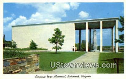 War Memorial  - Richmond, Virginia VA Postcard