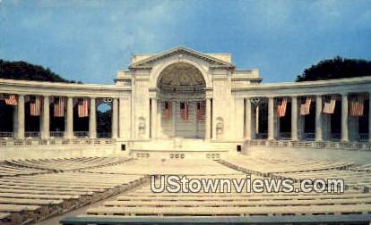 Arlington Memorial Amphitheatre  - Arlington National Cemetary, Virginia VA Postcard