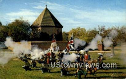 The Colonial Williamsburg Militia  - Virginia VA Postcard