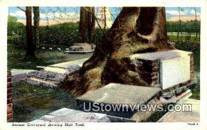 Ancient Graveyard  - Jamestown, Virginia VA Postcard