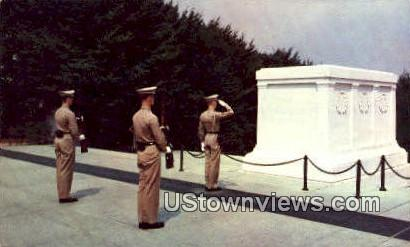 The Tomb Of The Unknown Soldier  - Arlington National Cemetary, Virginia VA Postcard