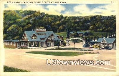 Lee Highway Crossing  - Skyline Drive, Virginia VA Postcard