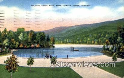 Douthat State Park  - Clifton Forge, Virginia VA Postcard