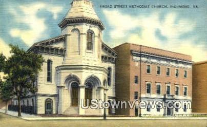 Broad Street Methodist Church  - Richmond, Virginia VA Postcard