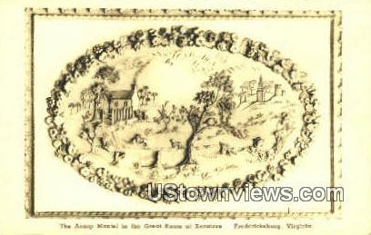 Aesop Mantel Great Room Kenmore  - Fredericksburg, Virginia VA Postcard