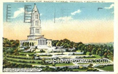 George Washington National Memorial  - Alexandria, Virginia VA Postcard