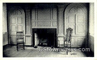 Pannelled Fireplace  - Surry, Virginia VA Postcard