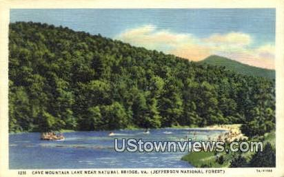 Cave Mountain Lake, Natural Bridge  - Virginia VA Postcard