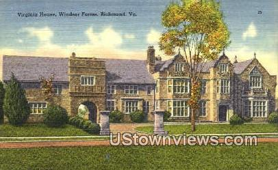 Virginia House Winder Farms  - Richmond Postcard