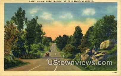 Touring Along  - Misc, Virginia VA Postcard