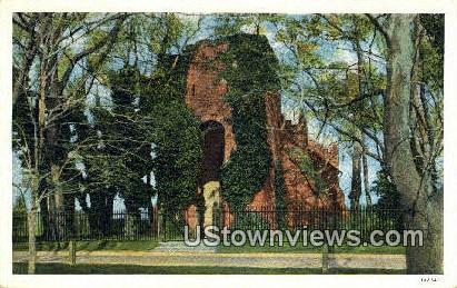 Jamestown Graveyard  - Virginia VA Postcard
