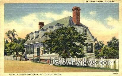 The Swan Tavern  - Yorktown, Virginia VA Postcard