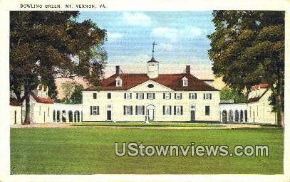 Bowling Green  - Mount Vernon, Virginia VA Postcard